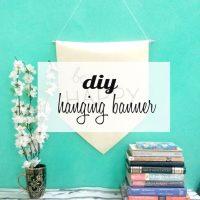 DIY Hanging Banner
